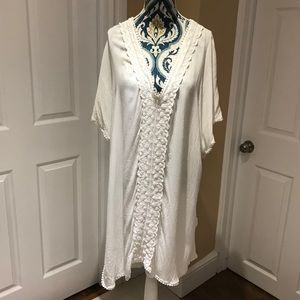 White Bathing Suit Cover Up